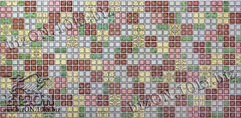 Мозаика «БЛИК ЗЕЛЕНЫЙ»   Листовые панели ПВХ