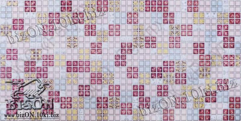 Мозаика «БЛИК КРАСНЫЙ»   Листовые панели ПВХ