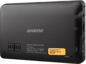 Фото Автомобильная электроника, GPS-навигаторы GPS-навигатор Digma AllDrive 400 (черный)