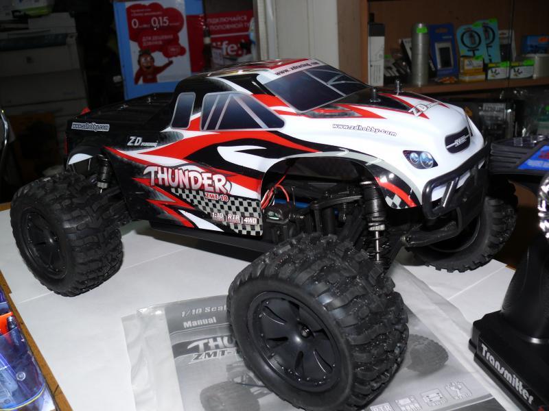 Машинка монстр, радиоуправляемая масштаб 1/10 , ZD Racing 10427 4WD. Длина 45 см. Скорость 50 км/ч.