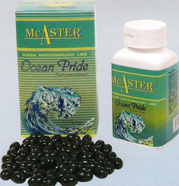 Мягкие гелевые капсулы спирулина «Гордость океана» ТМ McAster - 100 капс.