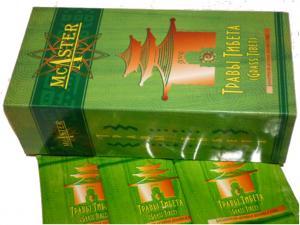 Фото  Чайный бальзам «Травы Тибета» диеты и общеукрепляющий ТМ McAster - 20 пакетов.