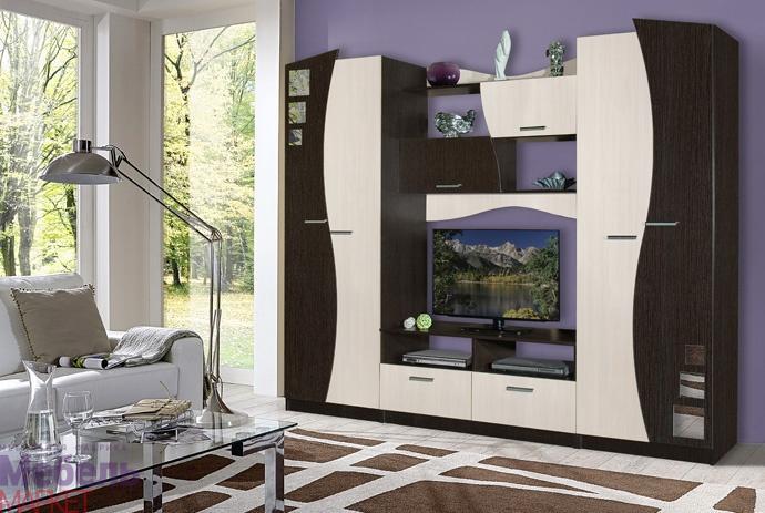 Гостиная МУЗА 1(Маркет мебель)