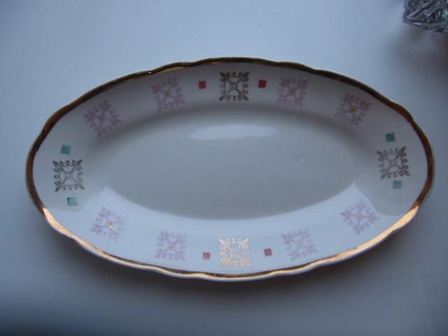 Фарфоровая тарелка Селедочница Коростень 17 см