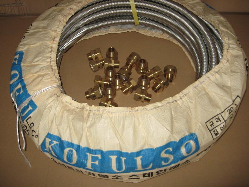 Гофрированная труба KOFULSO из нержавеющей стали отожженная Ф 15 мм (1/2)