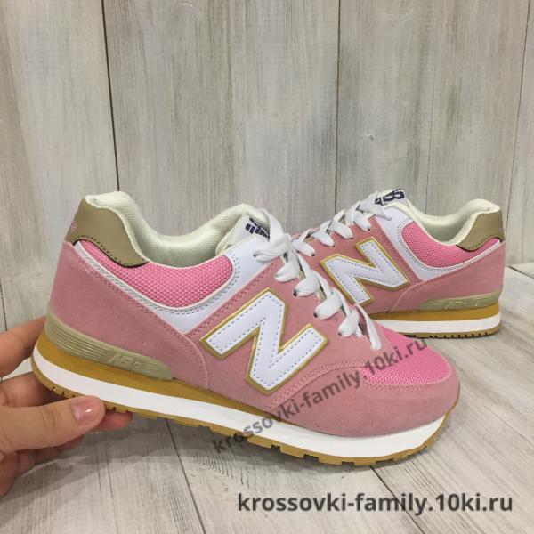 Фото Женские кроссовки Кроссовки женские New Balance розовые