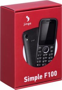 Фото МОБИЛЬНАЯ ЭЛЕКТРОНИКА, Мобильные телефоны кнопочные Мобильный телефон Jinga Simple F100 (черный)