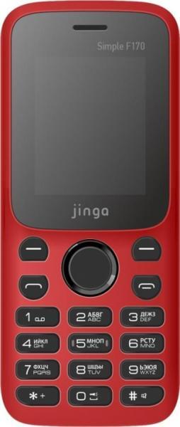 Мобильный телефон Jinga Simple F170 (красно-черный)