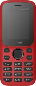 Фото Мобильные телефоны до 1000 руб., Мобильные телефоны кнопочные Мобильный телефон Jinga Simple F170 (красно-черный)