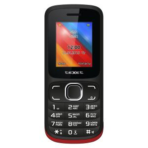 Фото Телефоны,смартфоны, Мобильные телефоны Мобильный телефон teXet TM-125 Black Red