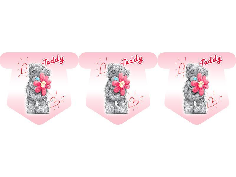 """Флажки 12 шт. """"Тедди"""" (розовый) 1"""