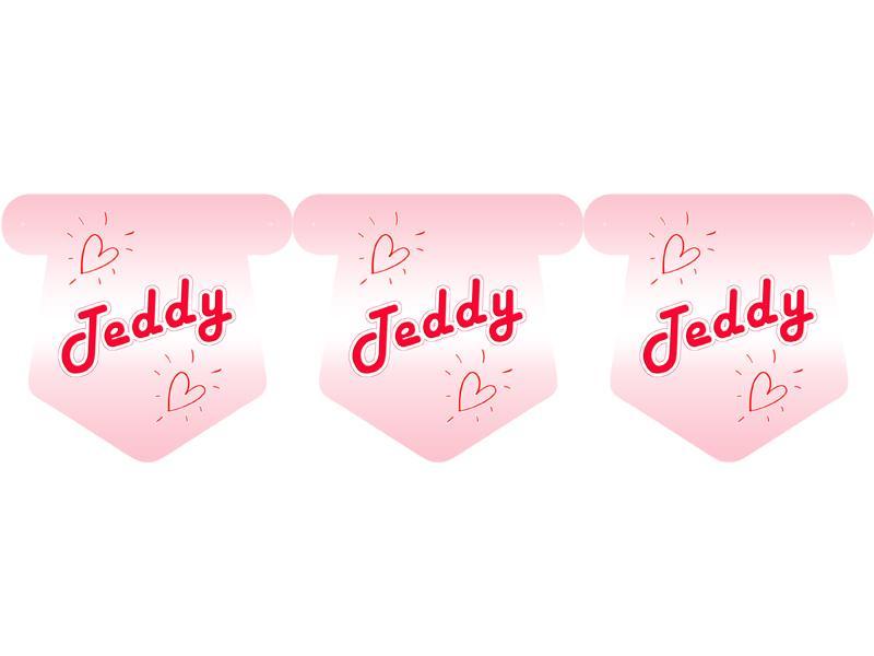 """Флажки 15 шт. """"Тедди"""" (розовый) 2"""