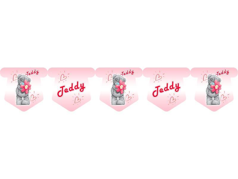 """Флажки 18 шт. """"Тедди"""" (розовый) 3"""