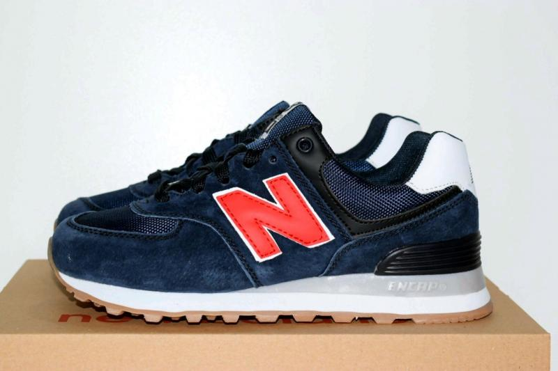 New Balance 574 Blue Red (36-40)