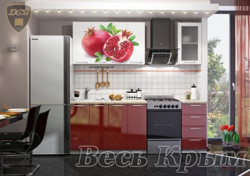 Кухня ГРАНАТ Фотопечать 1,6м(ДСВ мебель) Кухонные гарнитуры в Крыму