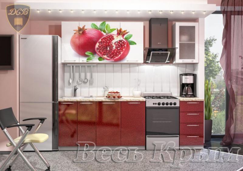 Кухня ГРАНАТ Фотопечать 1,8м(ДСВ мебель) Кухонные гарнитуры в Крыму
