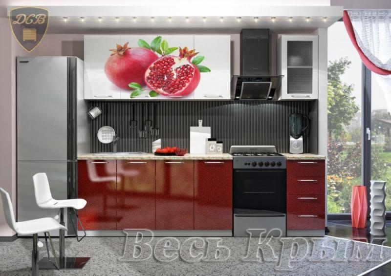 Кухня ГРАНАТ Фотопечать 2,0м(ДСВ мебель) Кухонные гарнитуры в Крыму