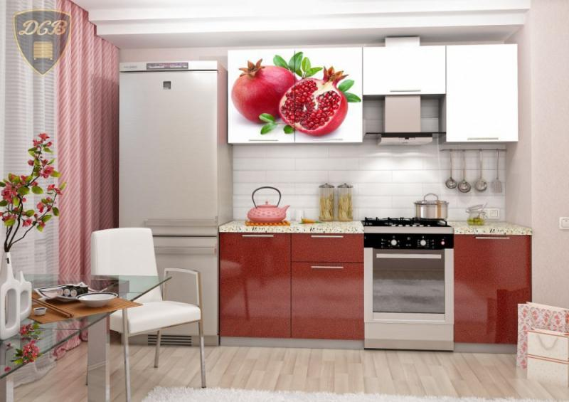 Кухня ГРАНАТ Фотопечать 2,1м(ДСВ мебель)