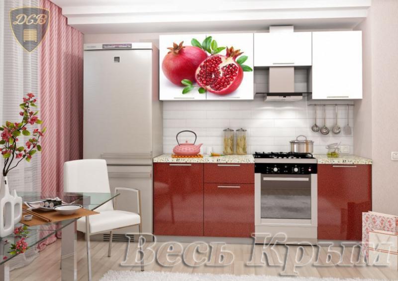 Кухня ГРАНАТ Фотопечать 2,1м(ДСВ мебель) Кухонные гарнитуры в Крыму