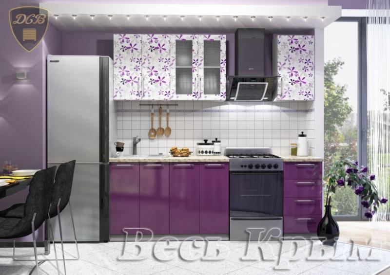 Кухня ФЛОРА Фотопечать 1,6м (ДСВ мебель) Кухонные гарнитуры в Крыму