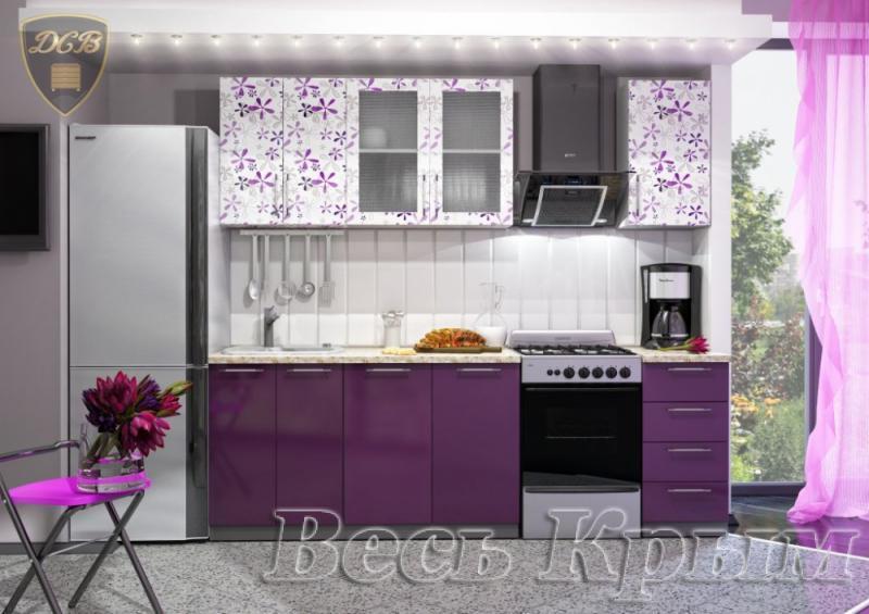 Кухня ФЛОРА Фотопечать 1,8м(ДСВ мебель) Кухонные гарнитуры в Крыму