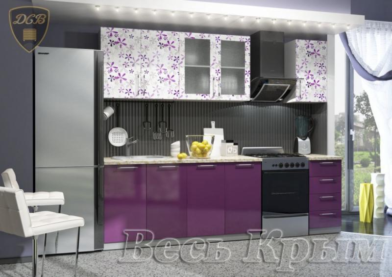 Кухня ФЛОРА Фотопечать 2,0м(ДСВ мебель) Кухонные гарнитуры в Крыму