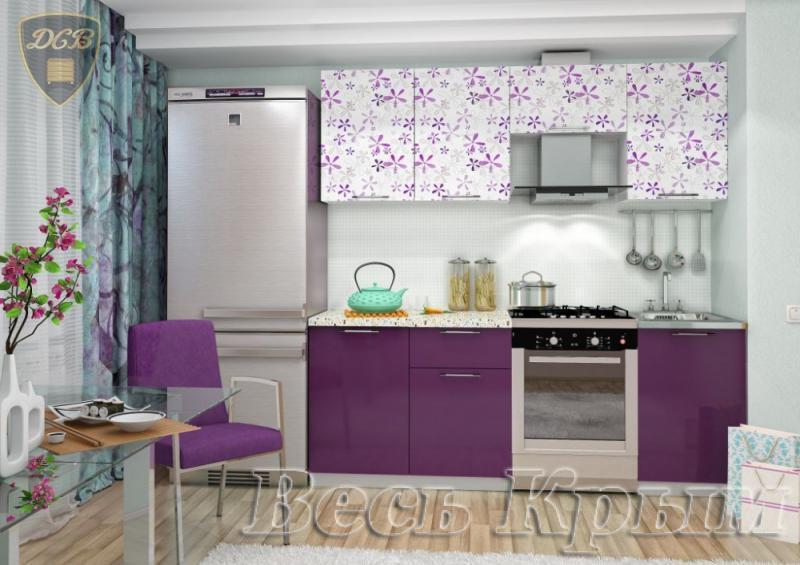 Кухня ФЛОРА Фотопечать 2,1м(ДСВ мебель) Кухонные гарнитуры в Крыму