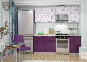 Фото  Кухня ФЛОРА Фотопечать 2,1м(ДСВ мебель)