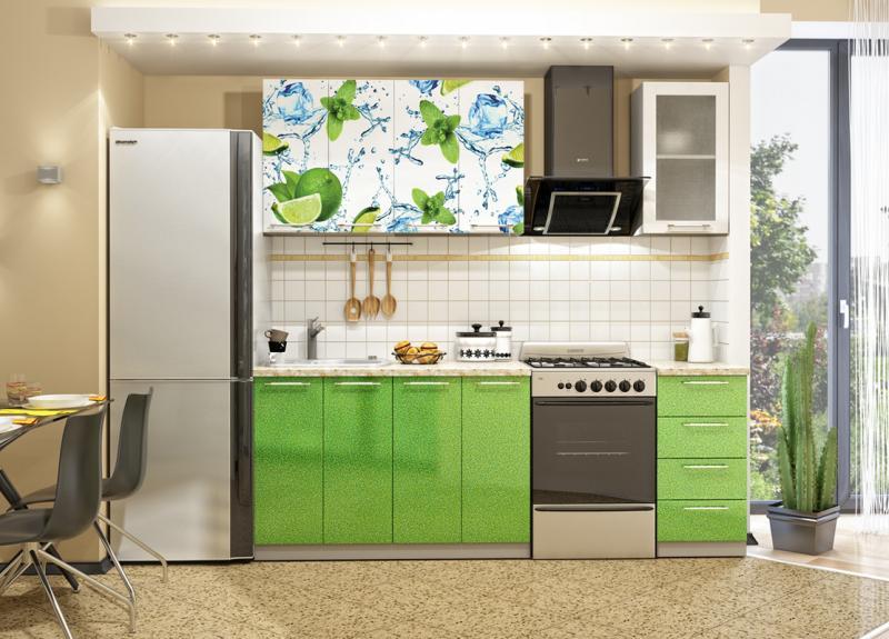 Кухня Лайм Фотопечать 1.6м(ДСВ мебель)