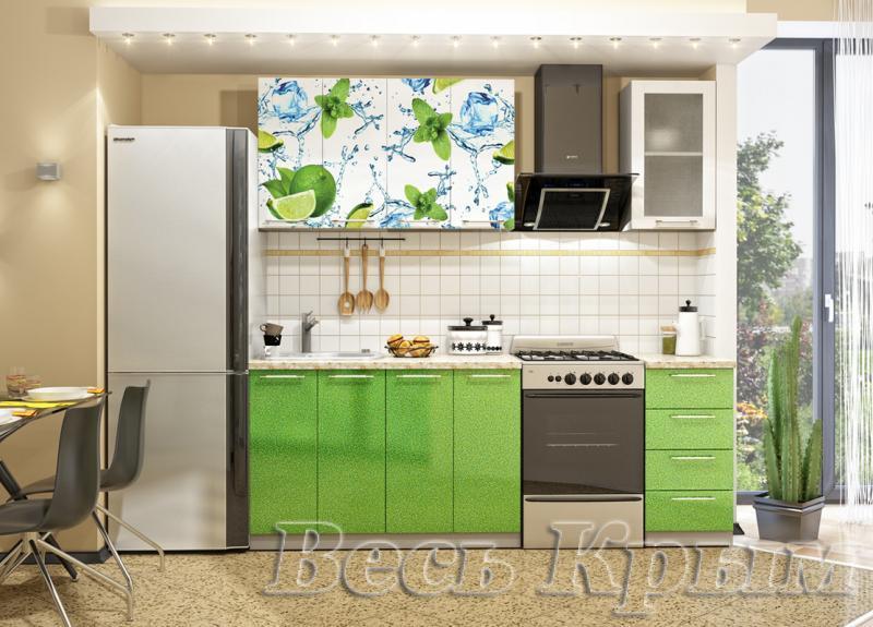 Кухня Лайм Фотопечать 1.6м(ДСВ мебель) Кухонные гарнитуры в Крыму