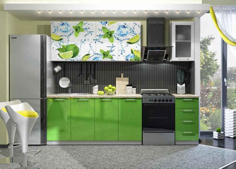 Кухня Лайм Фотопечать 2.0м(ДСВ мебель)