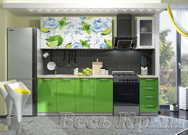 Кухня Лайм Фотопечать 2.0м(ДСВ мебель) Кухонные гарнитуры в Крыму