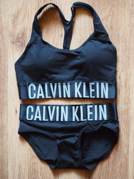 комплект Calvin Klein черный с черной резинкой