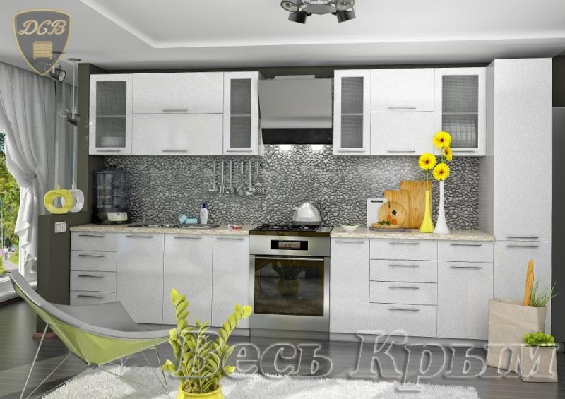 ДСВ мебель-Кухня ОЛИВА - БЕЛЫЙ модульная Кухонные гарнитуры в Крыму