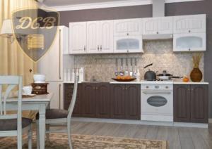 Фото  Кухня МОНАКО (САНДАЛ/БРАЗИЛЬСКИЙ ОРЕХ)модульная (ДСВ мебель)