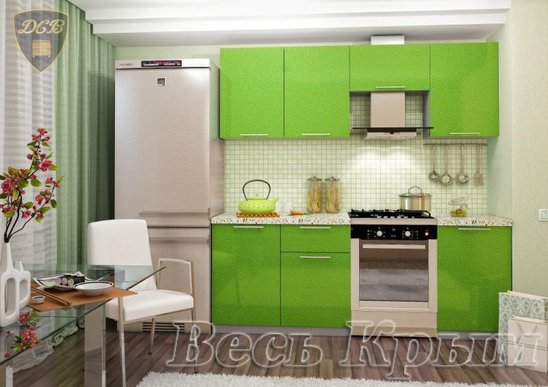 Кухня ОЛИВА - ЗЕЛЕНЫЙ 2.1м(ДСВ мебель) Кухонные гарнитуры в Крыму