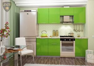 Фото  Кухня ОЛИВА - ЗЕЛЕНЫЙ 2.1м(ДСВ мебель)