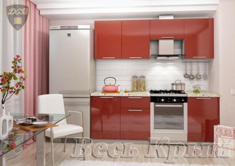 Кухня ОЛИВА- ГРАНАТ 2.1м(ДСВ мебель) Кухонные гарнитуры в Крыму