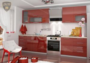 Фото  Кухня ОЛИВА - ГРАНАТ модульная(ДСВ мебель)