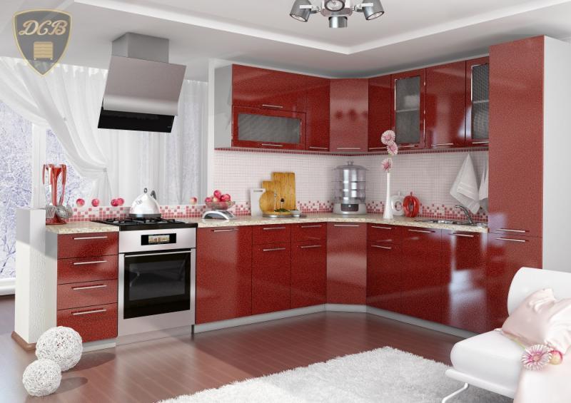 Фото  ДСВ мебель-Кухня ОЛИВА - ГРАНАТ модульная