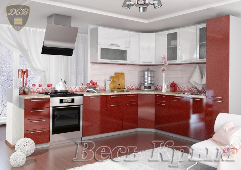 ДСВ мебель-Кухня ОЛИВА - ГРАНАТ БЕЛЫЙ модульная Кухонные гарнитуры в Крыму