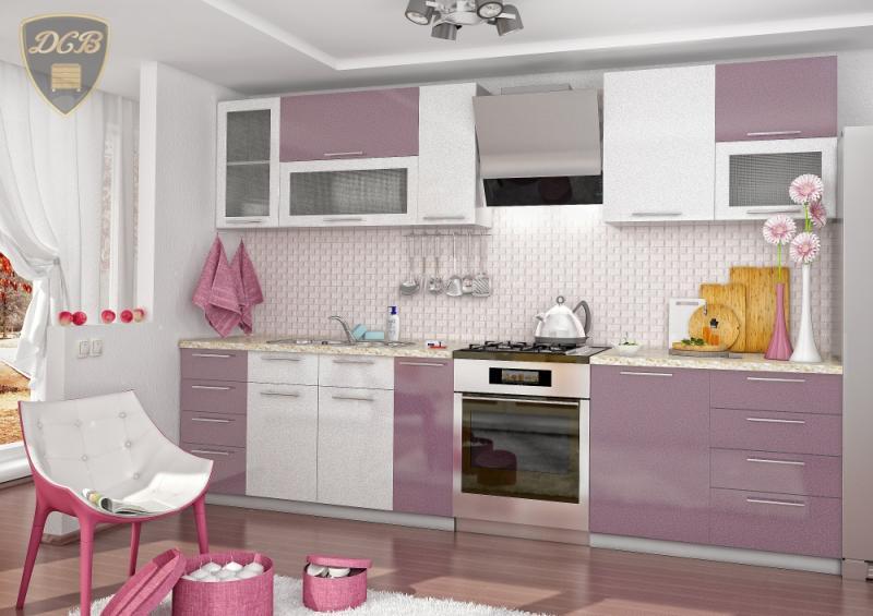 Кухня ОЛИВА - СИРЕНЬ БЕЛЫЙ модульная(ДСВ мебель)