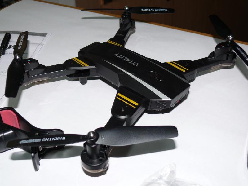 Квадрокоптер TK-116W с подсветкой, 45х45 см. Камера WiFi FPV.