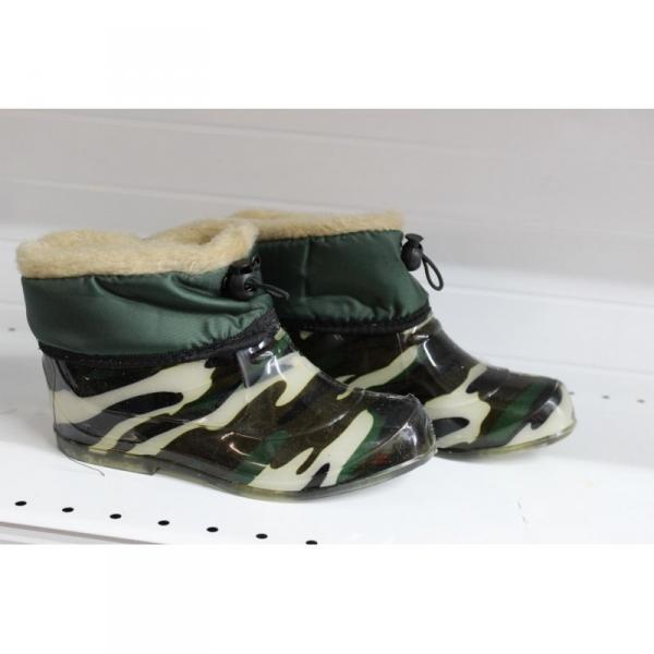 Фото Осень-весна обувь, Детская 9008 Сапоги детские камуфляж из силикона