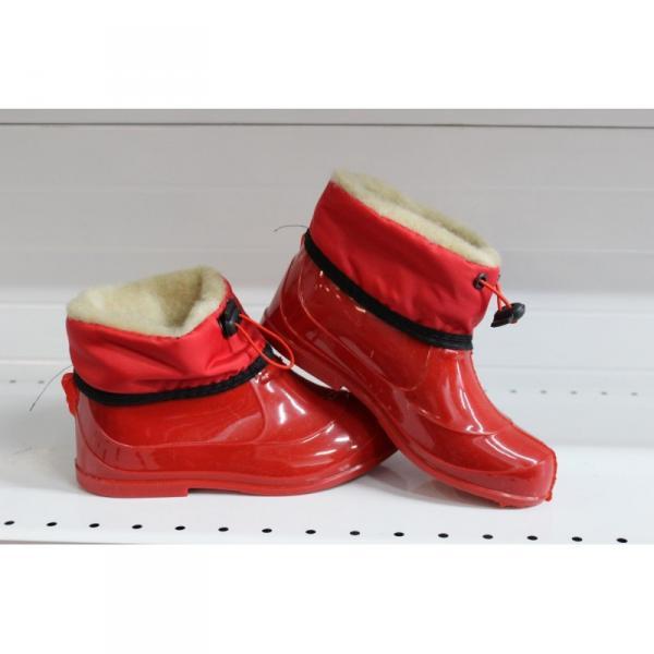 Фото Осень-весна обувь, Детская 9006 Галоши детские с меховой опушкой