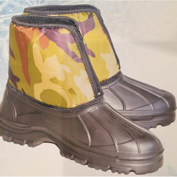 Фото Зимняя обувь, Мужская БОТИНКИ ЭВА НА МОЛНИИ