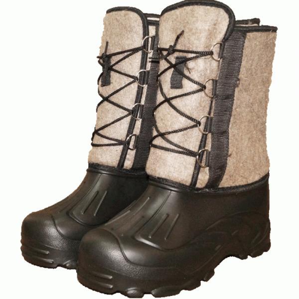 Сапоги ЭВА мужские «Аляска» на шнурке войлок (