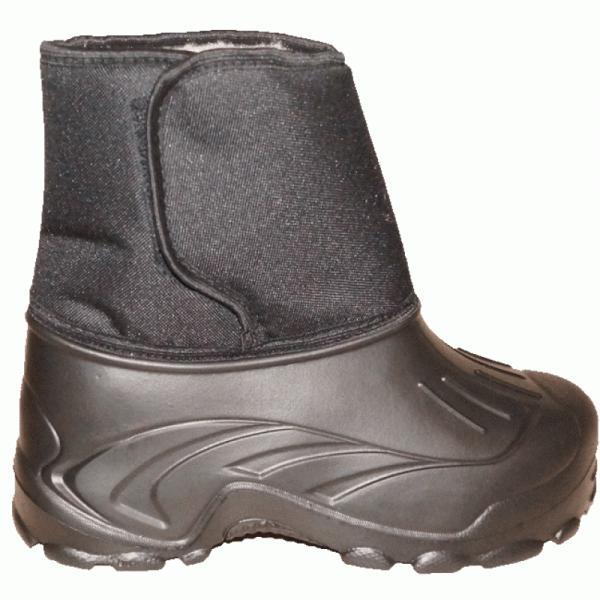 Фото Зимняя обувь, Мужская Полуботинки ЭВА на липучке и «мехом барашка» (