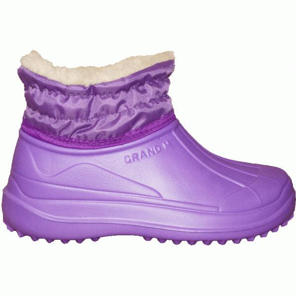 Фото Зимняя обувь, Женская Галоши ЭВА «Элит» с манжетом и «мехом барашка» (