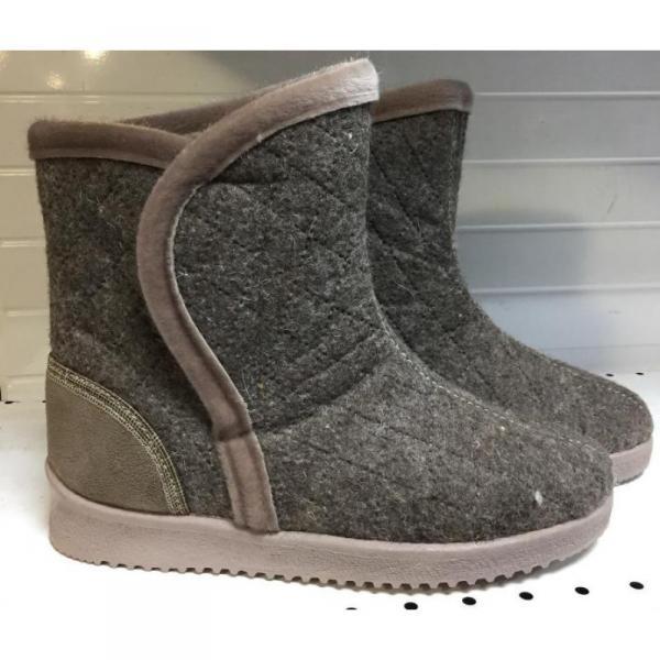 Фото Зимняя обувь, Женская 0007 Полусапожки войлочные